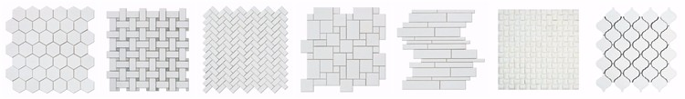 Thassos White Marble Hexagonal Backsplash Mosaic Tile