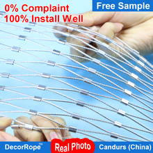 DecorRope rope mesh for bridge safety For Suspension pedestrian bridge