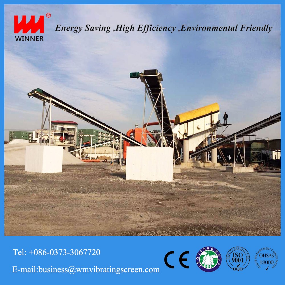 Mobile construction waste recycling sorting crushing machine plant line
