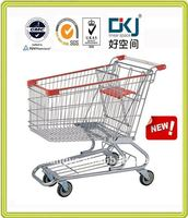 XYW-145 145 Litres Steel Chrome Supermarket Trolley