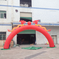 China Red Dragon Inflatable Arch for Celebration