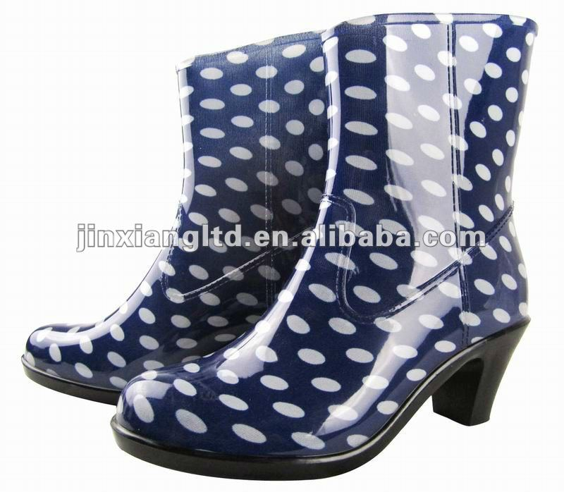 Ladies high Heel Rain Shoes