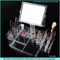 Export acrylic makeup organizer with drawers and mirror