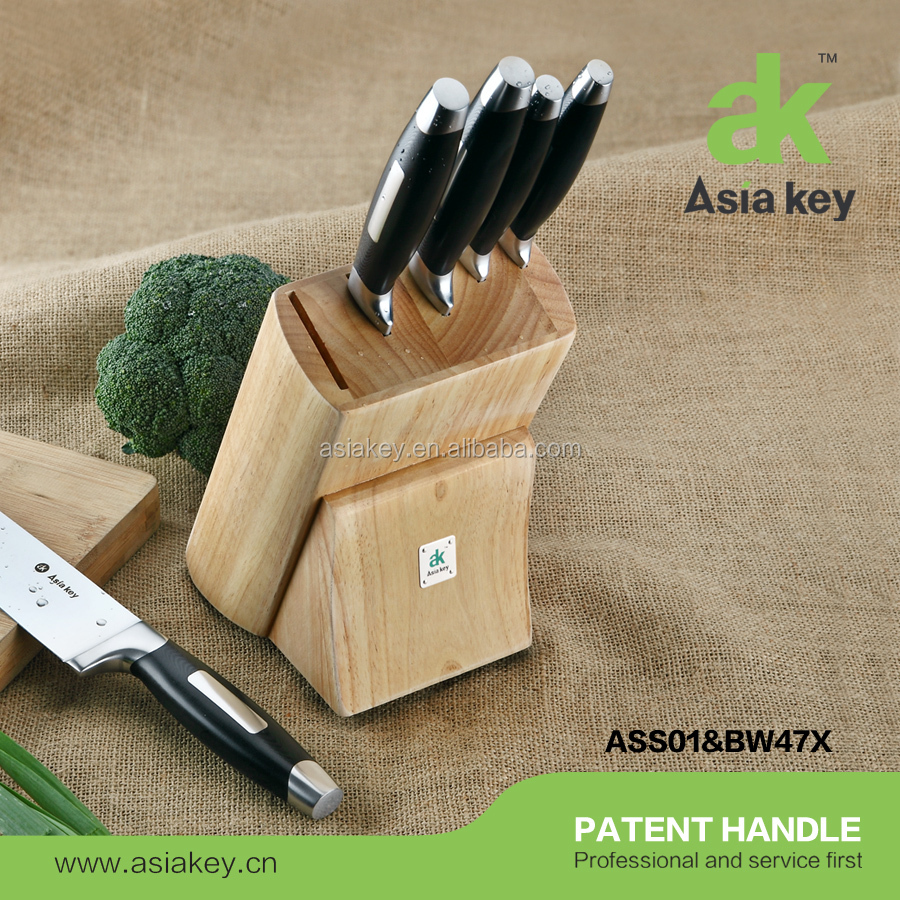 Superior Quality Professional S. S Kitchen Knife Wood Block Set with G10 handle