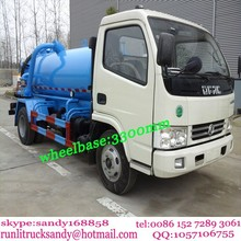 4x2 DFCA mini 5000L sewage suction truck for sale