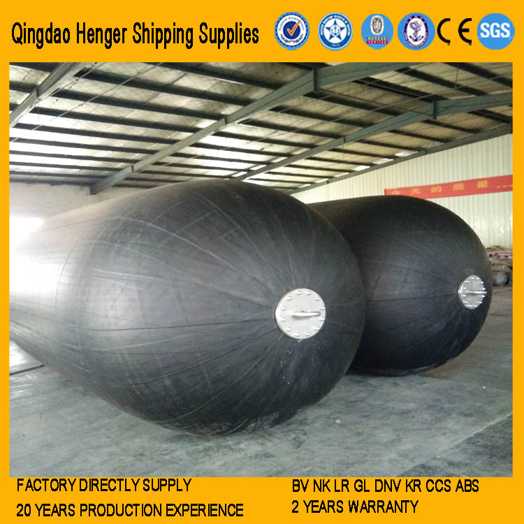 Pneumatic rubber fender for tug barge boat
