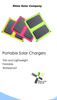 phone accessories protable solar charger 5v mobile phone