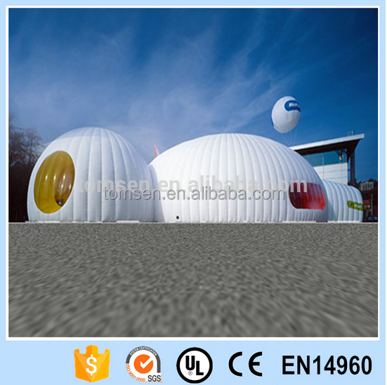 Fashion party tent inflatable/white Durable Dome tent/ inflatable camping tent