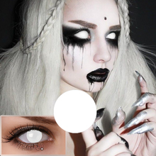 Promotion wholesale cheap halloween crazy zombie colored contact lens cat eye color contact lenses