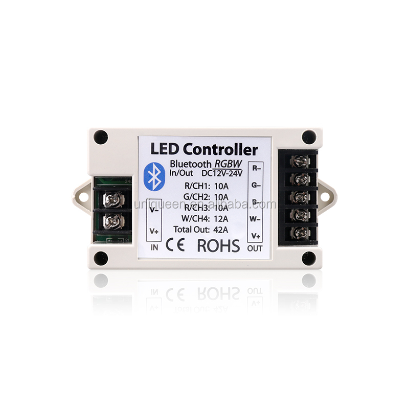 New Bluetooth RGB RGBW Led Controller BT Wireless IOS Android Led Strip Bluetooth 4.0 Control LED Controller with DC12V/24V 42A
