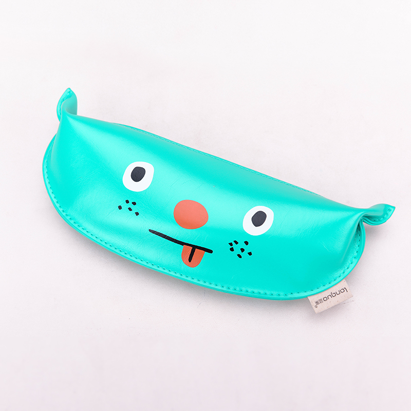 Languo soft handle pencil case cute monster style PU pencil bag for wholesaler