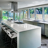 KKR new design modern hot quartz/ solid surface countertop with wholesale price