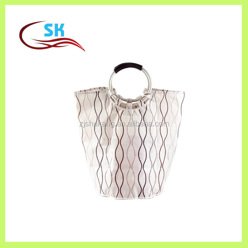 Zhejiang Shukang custom embroidered pattern cheap pretty collapsible laundry bag wholesale