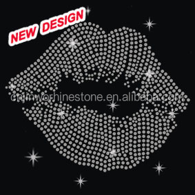 Beautiful rep lip hot fix motif design for garments C 2 (46)