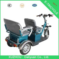 2 seats electric passenger three wheel electric motorcycle for adults