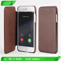 Hot selling flip leather cover for iphone6 case