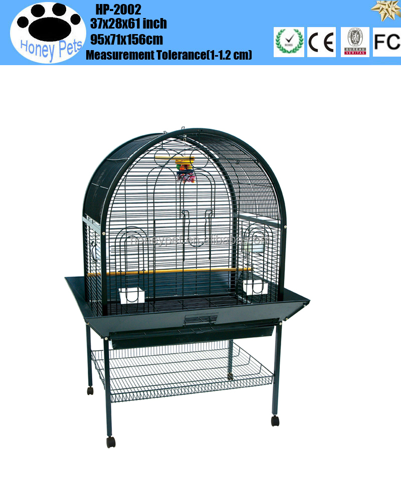 Parrot Pet Aviary Bird Cage Ladder 2 Wooden Perches 170(H)Cm Black Pet Supplies wrought iron parrot cage