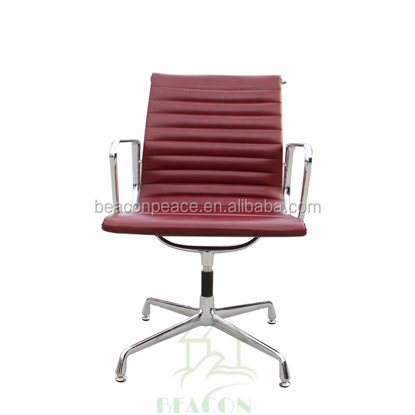 modern mid back executive leather ribbed office charles emes style conference chair