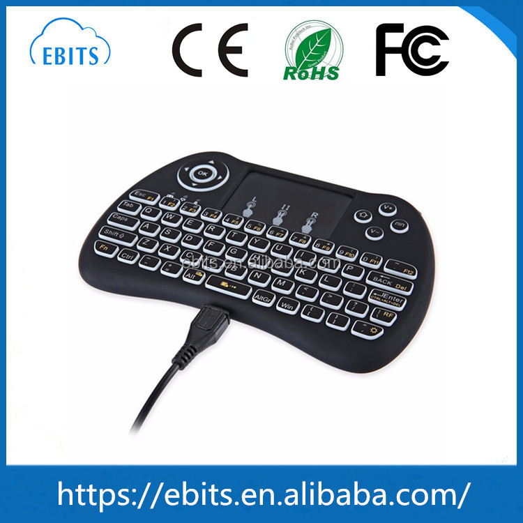 Factory Price Top quality Backlight Smart Control H9 2.4G Wireless USB Bluetooth Keyboard Backlit with Touchpad