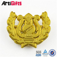 High end metal gold wing metal lapel pin for pilot