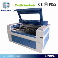 High speed two laser heads LXJ1290-2/laser cutting machine price