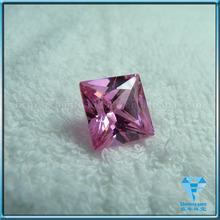 SQUARE shape pink Cubic zirconia(CZ) gemstone for fashion jewellery making