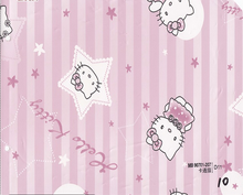 Hello kitty self-adhesion stickers 3d kids room wallpapers Q4-UH02-55A