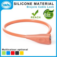 Anti UV Cable Lock Silicone Material Bike Lock with Key