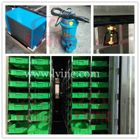 hydroponics barley sprout machine for sprouting barley fodder seeds/ poultry feed breeding container with green tray