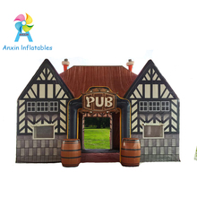 Outdoor durable inflatable serving bar, inflatable pub tent, inflatable irish pub tent for sale