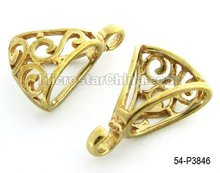 Brass filigree charms jewelry findings