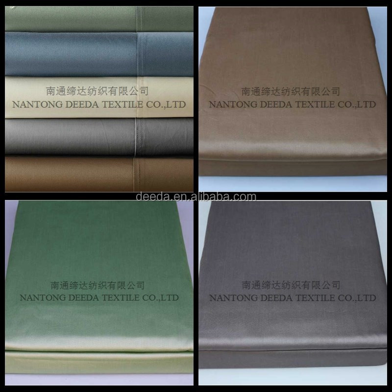 100% cotton luxury 1000T bed sheet fabric material