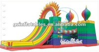 Qi Ling 2016 giant commercial inflatable playground