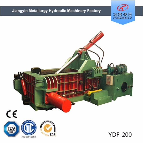 aluminum packing machine hydraulic metal baler for export