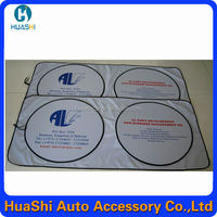 specifications aluminium foi roll up windshield sun shade
