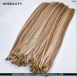 factory price no silicone added remy cuticle intact italian keratin glue Best Selling flat tip keratin virgin hair