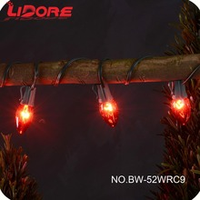 LIDORE Christmas Decoration Incandescent C9 String Light