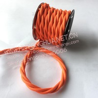 Textile 2 core power cable, fire resistant twisted pair cable, electric heating cable