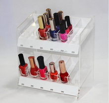 Customized acrylic nail polish display stand / cosmetic organizer