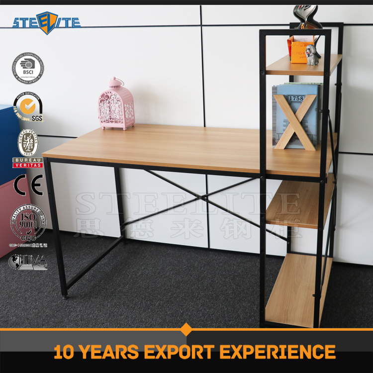 Wooden Top Office Table design Reception Desk Metal Table Frames Executive Desk