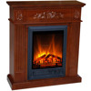 2015 new design antique artificial fire flame wood electric fireplace
