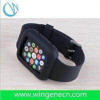 Custom made cheap silicone rubber wristband watches color silicone watch