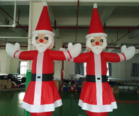 Advertising inflatable christmas santa claus mini inflatable sky air dancer dancing man