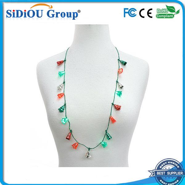 led flashing christmas light necklace