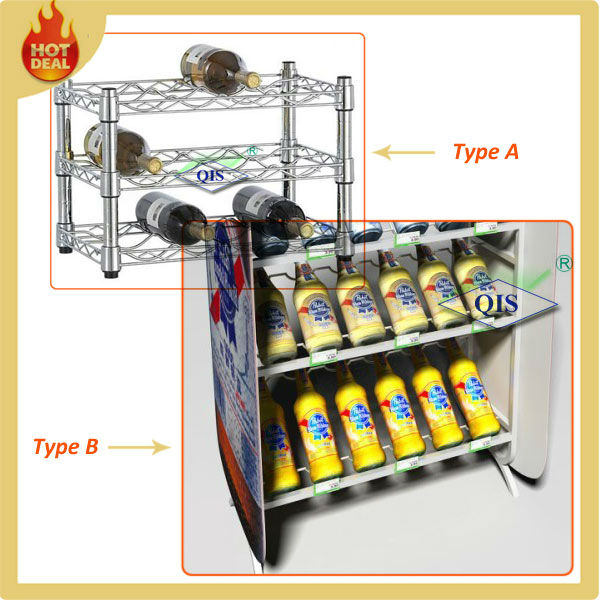 Drinking glass storage rack