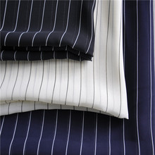 China suppliers stock lot printed stripe chiffon fabric for ladies dress