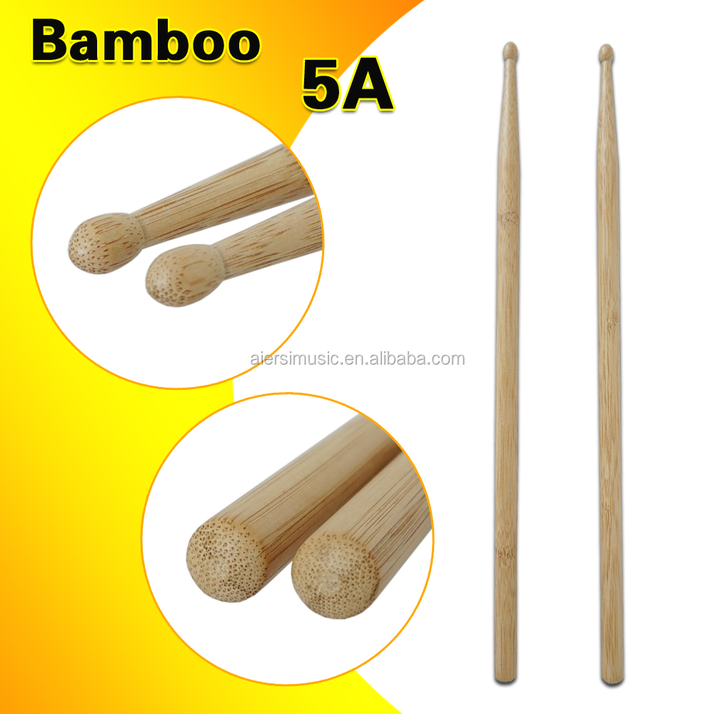 Wholesale Factory price Solid Bamboo wooden Bulk Drum sticks 5A and 7A
