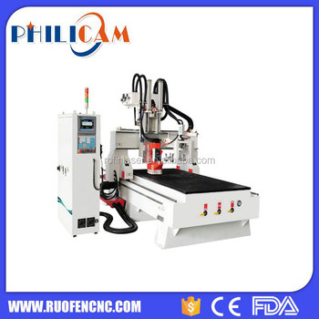 8 auto tool changer kitchen cabinet door cnc router