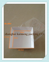 China made disposable sushi paper packaging box with plastic cover lid