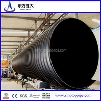 Large diameter steel reinforced polyethylene spiral corrugated pipe price